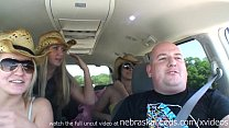flashing and getting naked while driving on a road trip