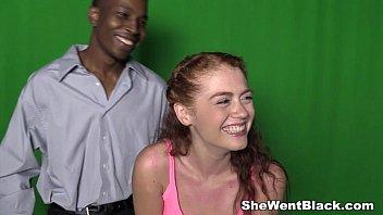 Redhead Teen Alice Green Interracial Creampie