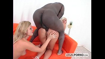 2 hot blondes and a big black cock having a threesome GB-15-02