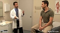 Lusty doctor gets nailed by his gay patient at work