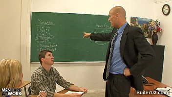 Hot gays fucking in classroom