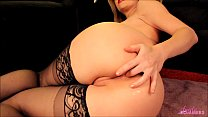 Horny blonde masturbates and fingers her ass