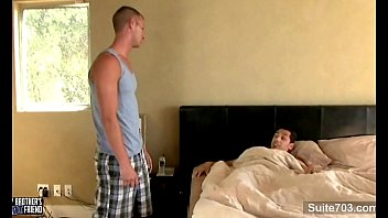 Gorgeous gay suck and ride anally a big cock