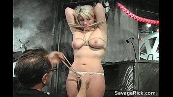 Sexy horny hot big boobed blonde slut
