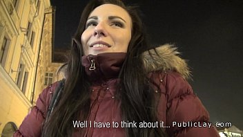 Czech amateur banged in public pov