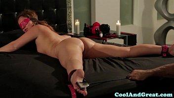 Restrained Maddy OReilly loving bondage play