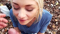 Blonde sucking dick and pounding in public pov 7 min