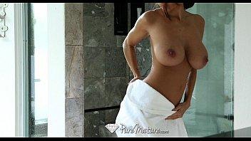Cum dripping threesome fuck with big tit girls and creampie - PureMature