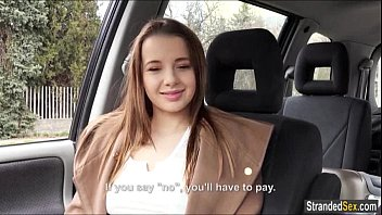 Teen Olivia agrees to fuck for free ride