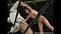 Horny slave loses a wrestling match against powerful mistress