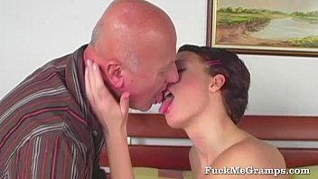 Young slut sucking old cock