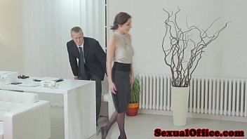 Antonia Sainz sucking dick in the office