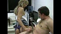 Hot applicant gives horny boss a quick handjob