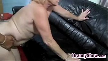 Blonde Grandma Being Licked And Fucked