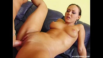 All Internal Shy brunette is fucked and nervous for first creampie