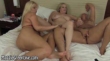 Maggie Green in Sexy Foot Fetish with Karen & Carey!