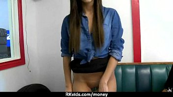 Amateur girl accepts cash for sex from stranger 12