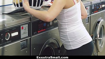 ExxxtraSmall - Petite Teen (Cali Hayes) Fucked in Laundromat