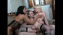 FFM 2 french whores sharing their ass with a white dick for an interracial fuck