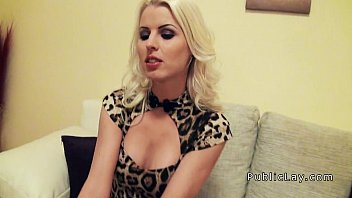 Busty Euro beauty picked up in public and banged pov