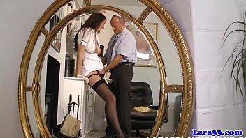 Mature british pornstar fingered as a nurse