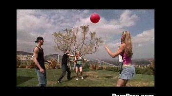 Sunset Teen Playing And Draining Balls