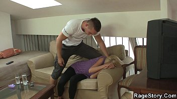 She screams as he fucks her rough and hard