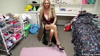 ct-Naughty milf jerks her step-son's dick
