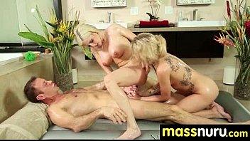 NuruMassage Teen Slides Oily Pussy on Cock 9
