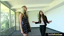 Cute Teen Hot Lez Girls Playing With Their Bodies clip-16