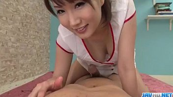 Appealing nurse Mikuni Maisaki caves for a tasty dick