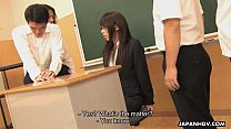 Asian teacher getting fucked by the randy students
