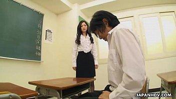 Very cute student sucking her teacher's cock off