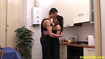Daddy fucks his sweet Daughter in kitchen