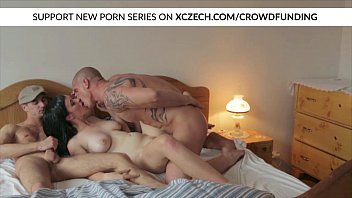 Nasty girl is fucked with two boys MMF