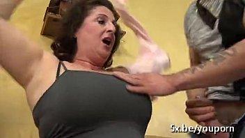 busty mom gangbanged