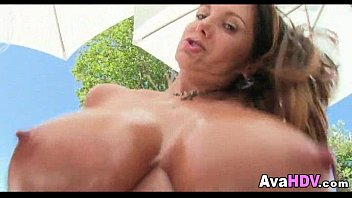Huge nice tits brunette 07