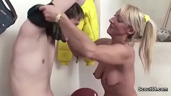 43yr Old Hot MILF Teacher Fuck Young Boy after Sport Lesson