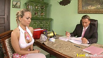 Attractive Mia Leone gets tricked by her boss