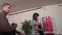 Pretty french brunette sodomized by her bf for a casting