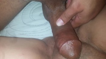 Me eating pink pussy till she cums then big black cock in tight pussy makes me c