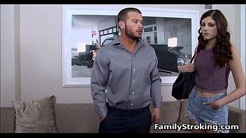 Teen Step Daughter Fucks Her Dad - FamilyStroking.com