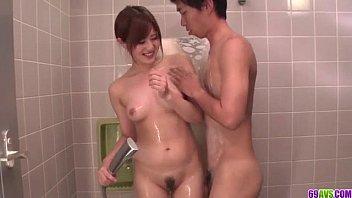 Mind blowing shower sex scenes with Yumi Maeda