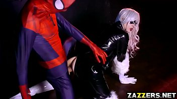 Spidey fucking The Black Cat so hard with his big cock