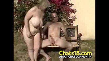 Wifey outdoor public voyeur fucking mature blond woman