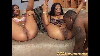 hot threesome for two y. and a big black dick