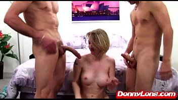 Donny Long tag team pounds milf fake big titty crack whore Sienna Rivers