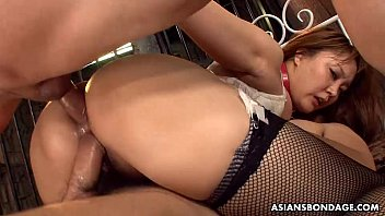 Big boobs and ass Asian sex slave made to fuck and suck 62 sec