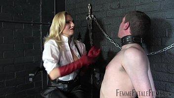 Off The Wall part2 - Mistress Akella - FemmeFataleFilms - Face Slapping