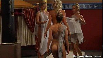 Big Boobed Slaves Taking A Bath